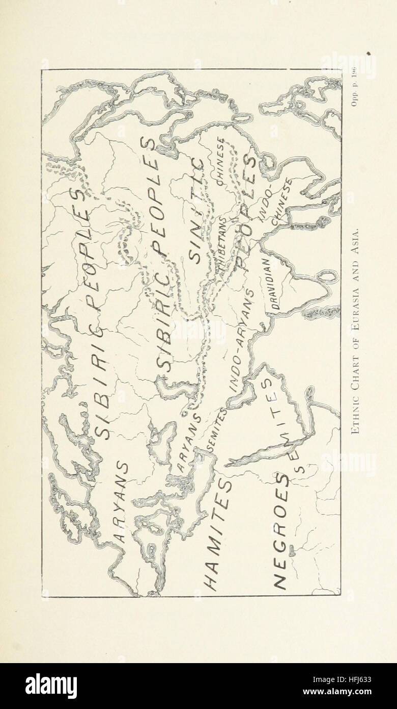Image taken from page 209 of 'Races and Peoples. Lectures on the science of Ethnography' Image taken from - Stock Image