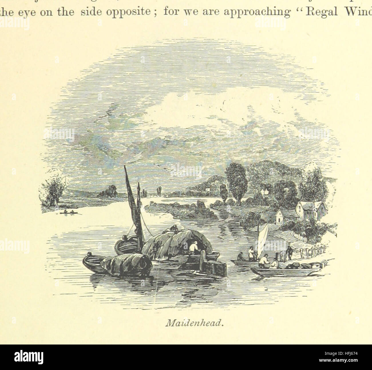 Image taken from page 209 of '[The book of the Thames.]' Image taken from page 209 of '[The book of - Stock Image