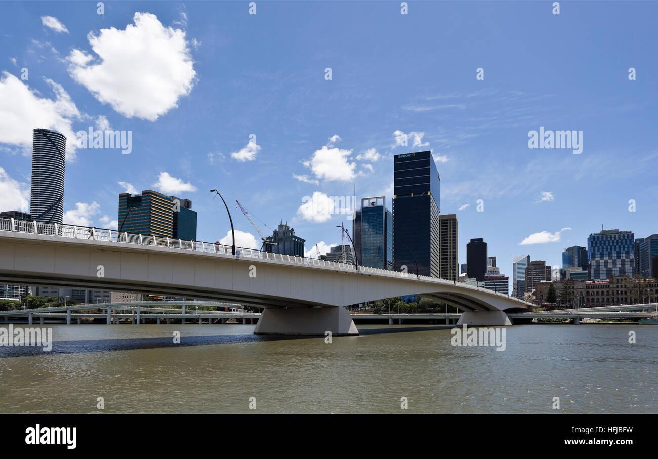 View of the Victoria Bridge over the Brisbane River, Australia - Stock Image