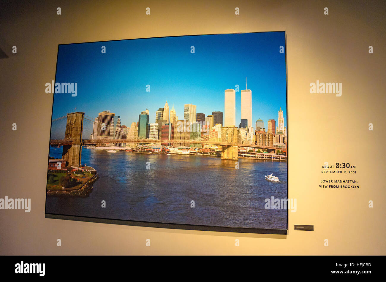 Interior of the 9/11 National Memorial Museum in New York City. - Stock Image