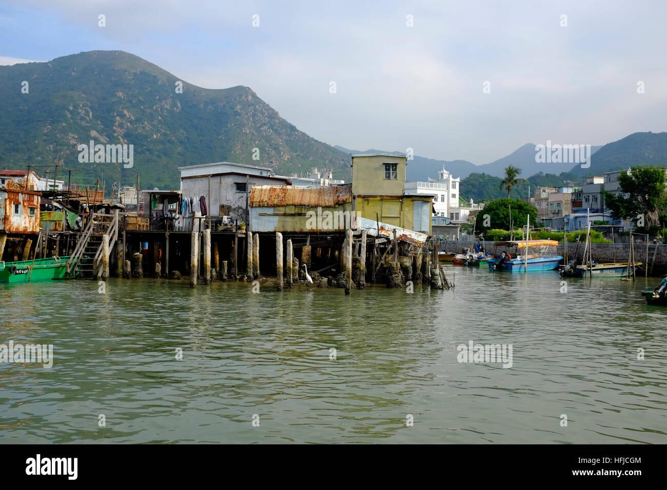 Tai o village lantau island. - Stock Image