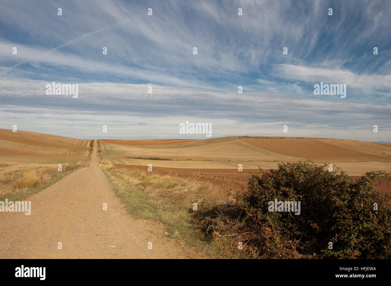 road towards Santiago de Compostela - Stock Image