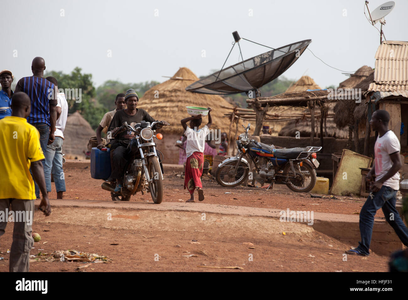 Koumban village, Guinea, 2nd May 2015; This area is above the proposed level of the Fomi dam and will be taking - Stock Image