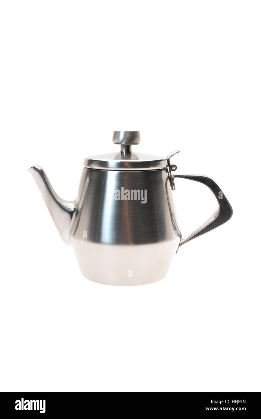 Stainless Steel Teapot - Stock Image
