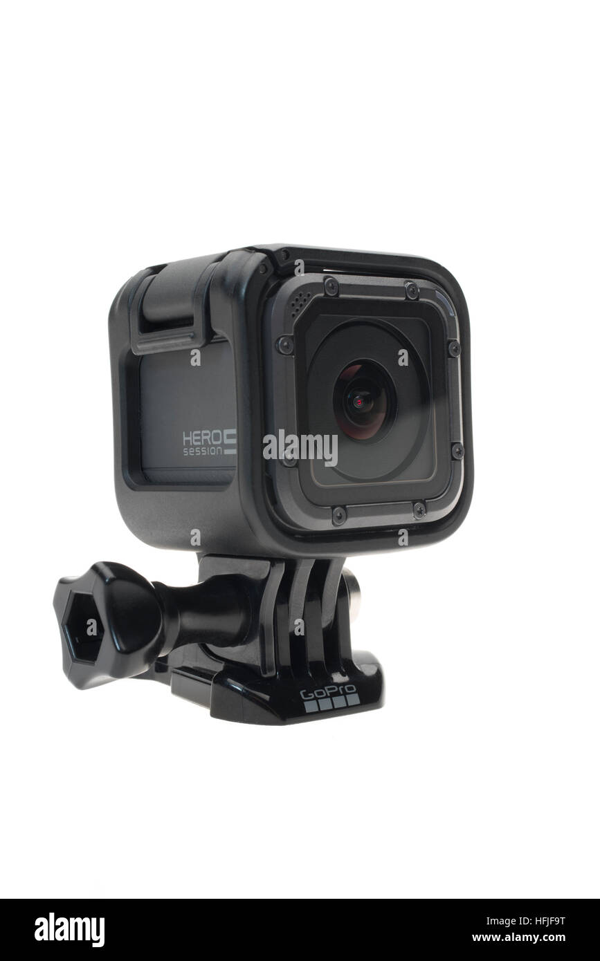 GoPro Hero 5 Session digital 4K high definition video camera 2016 - Stock Image