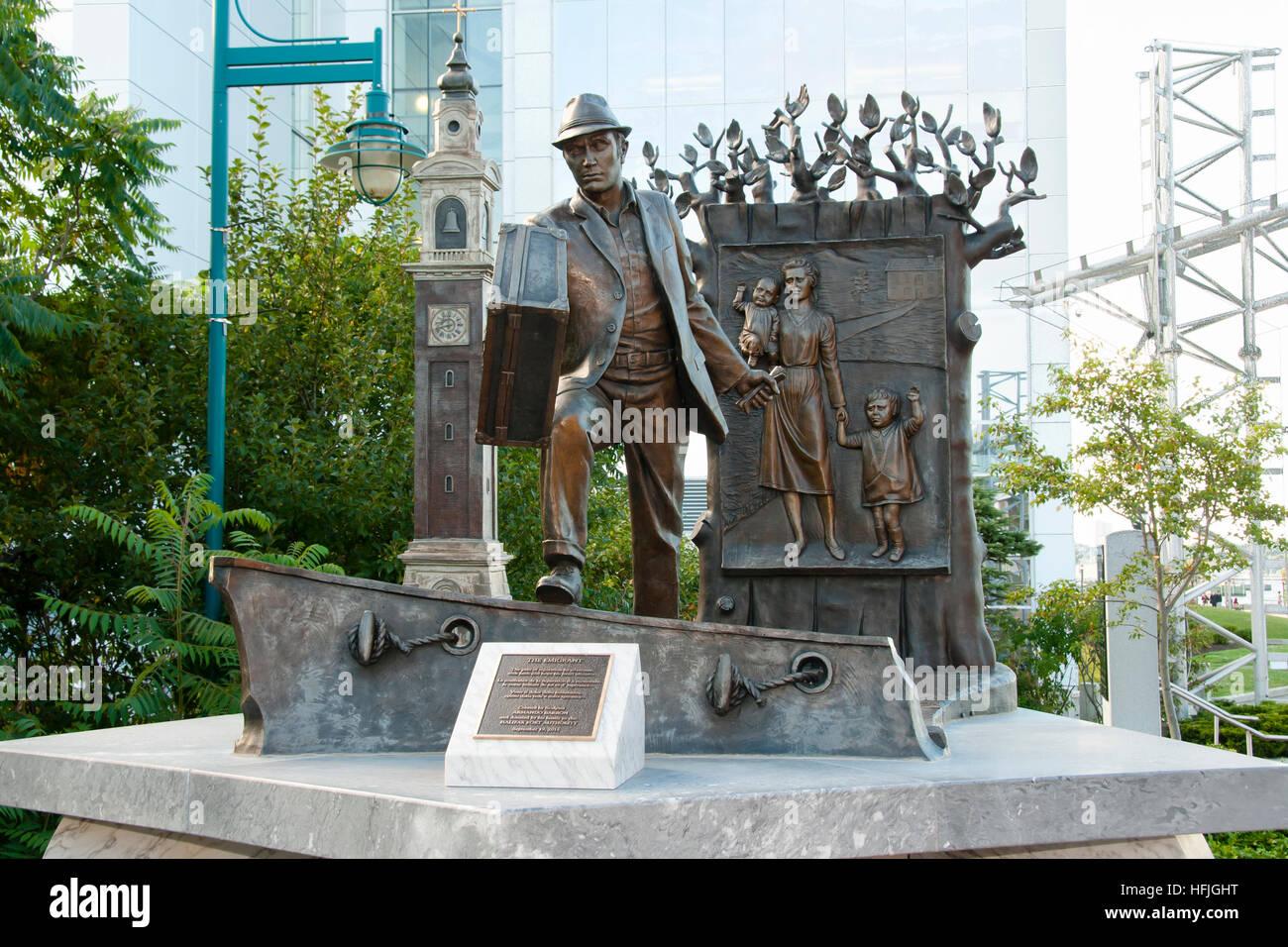 The Emigrant Public Statue - Halifax - Nova Scotia - Stock Image