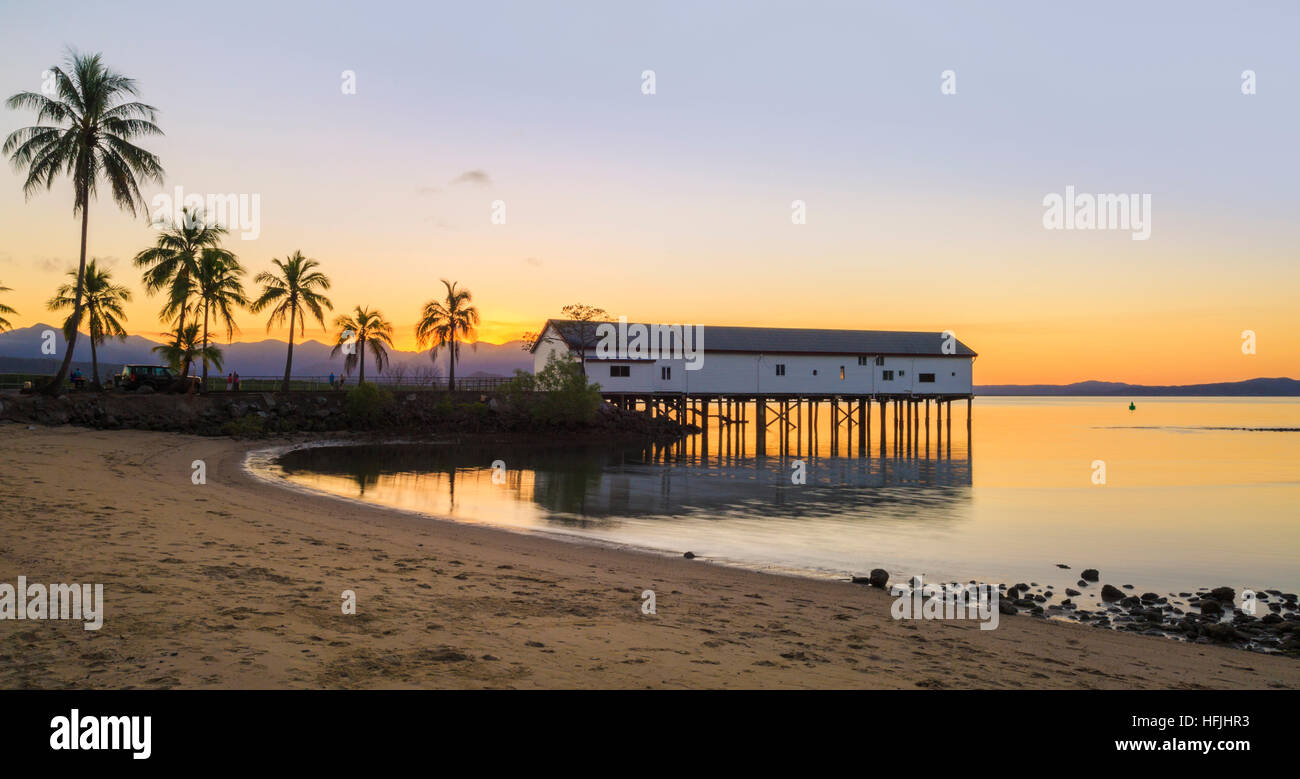 Port Douglas Sugar Wharf at sunrise. Port Douglas, Queensland, Australia - Stock Image