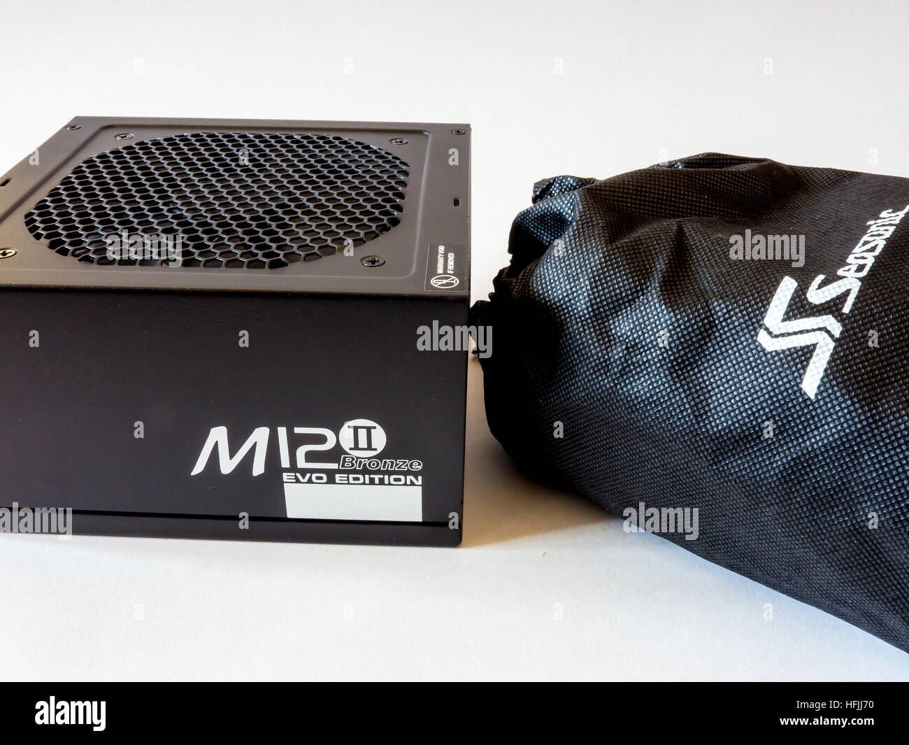 Power Supply Seasonic M12-2.Sea Sonic Electronics Co., Ltd. is a power supply and computer PSU manufacturer and - Stock Image