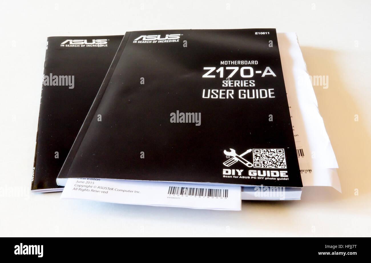 gomel belarus september 15 2016 user guide motherboard asus rh alamy com asus ac2400 user guide asus user guide laptop