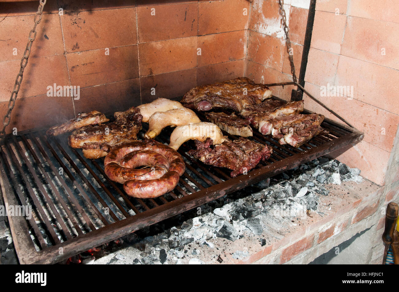 Barbecue from Argentina - Stock Image