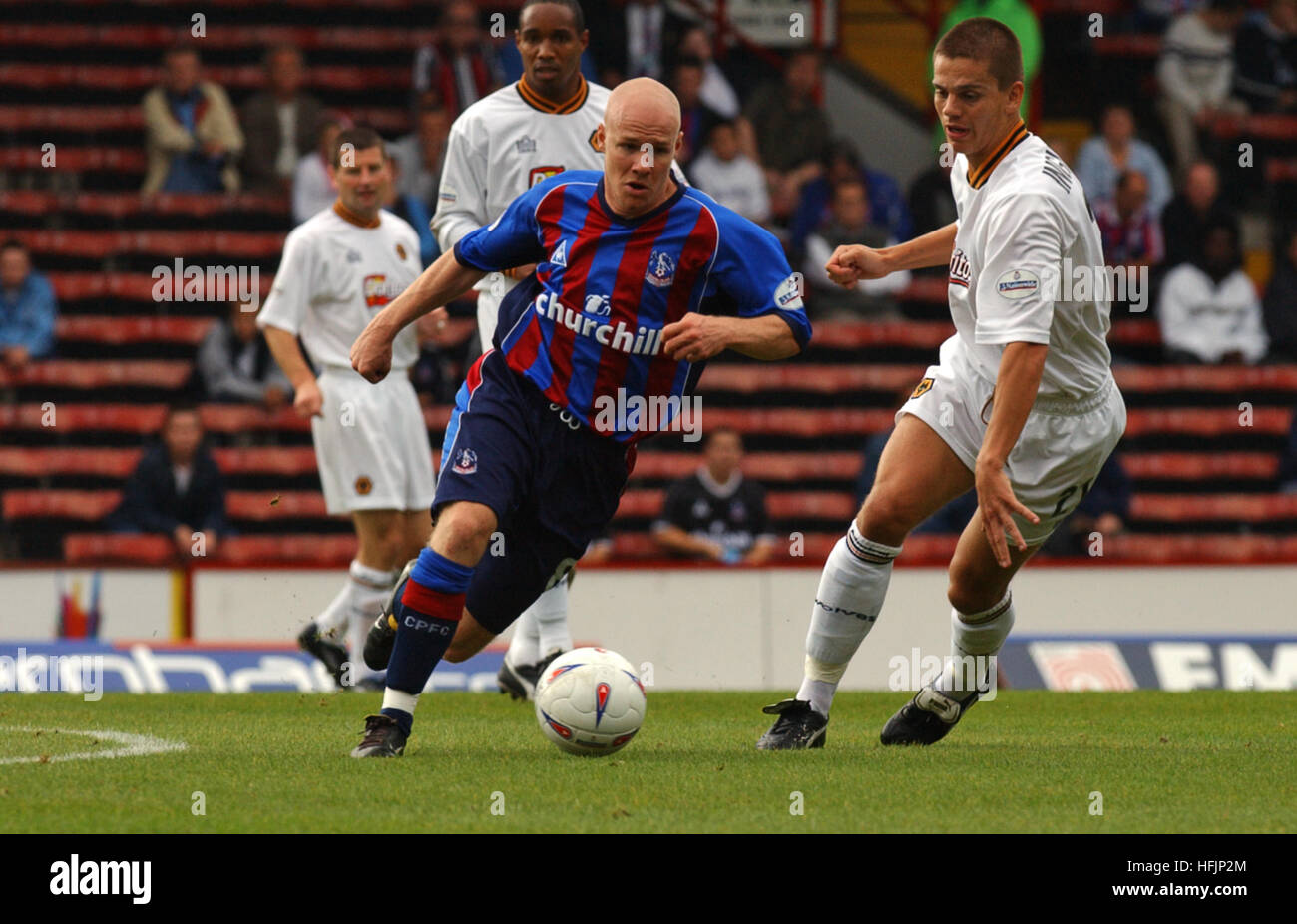 Footballer Andy Johnson playing for Crystal Palace 2002 - Stock Image
