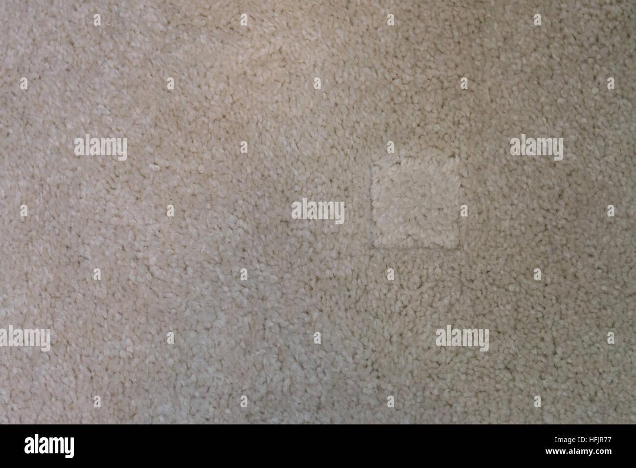 flattened carpet pile - Stock Image