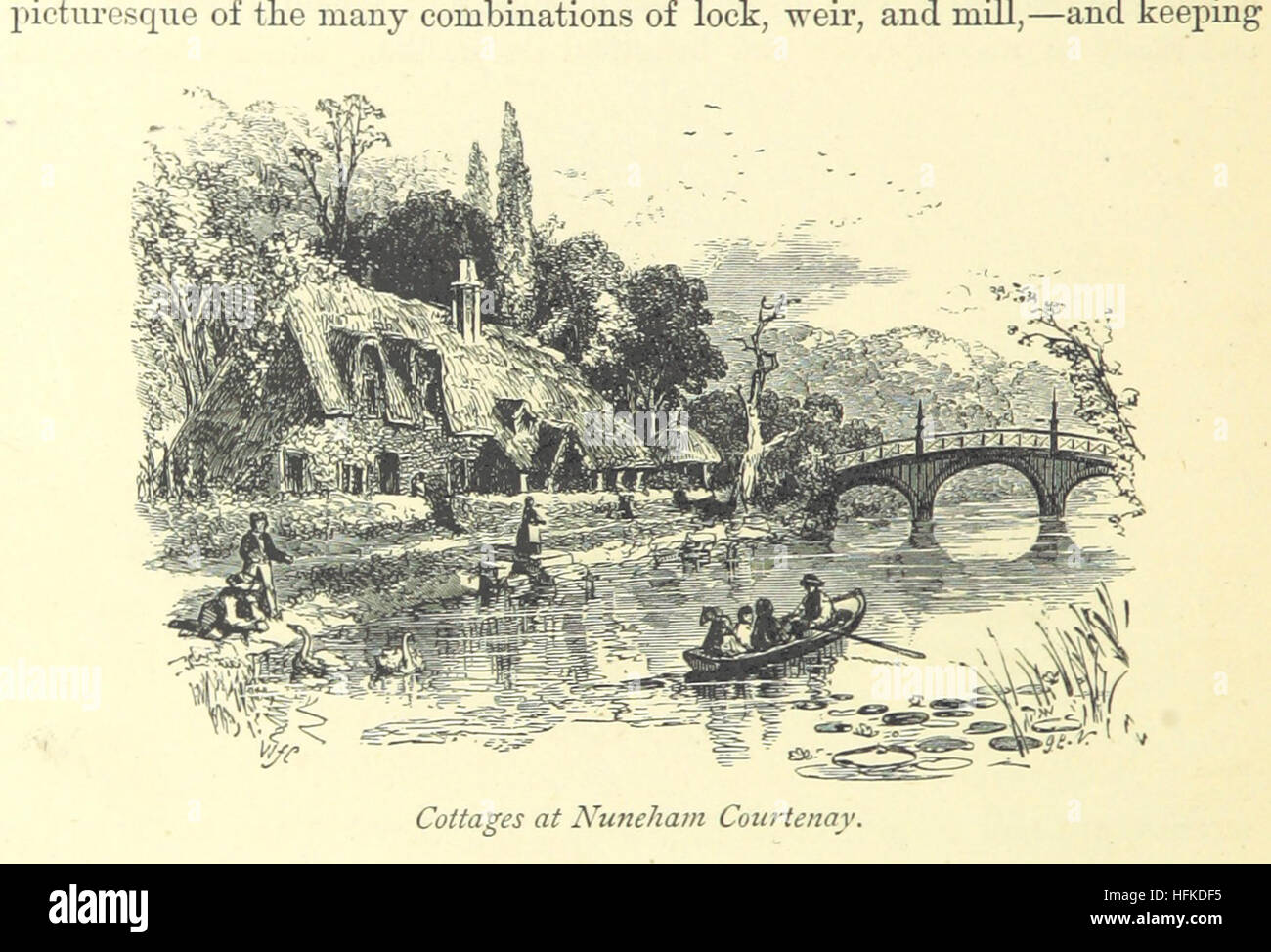 Image taken from page 122 of '[The book of the Thames.]' Image taken from page 122 of '[The book of - Stock Image