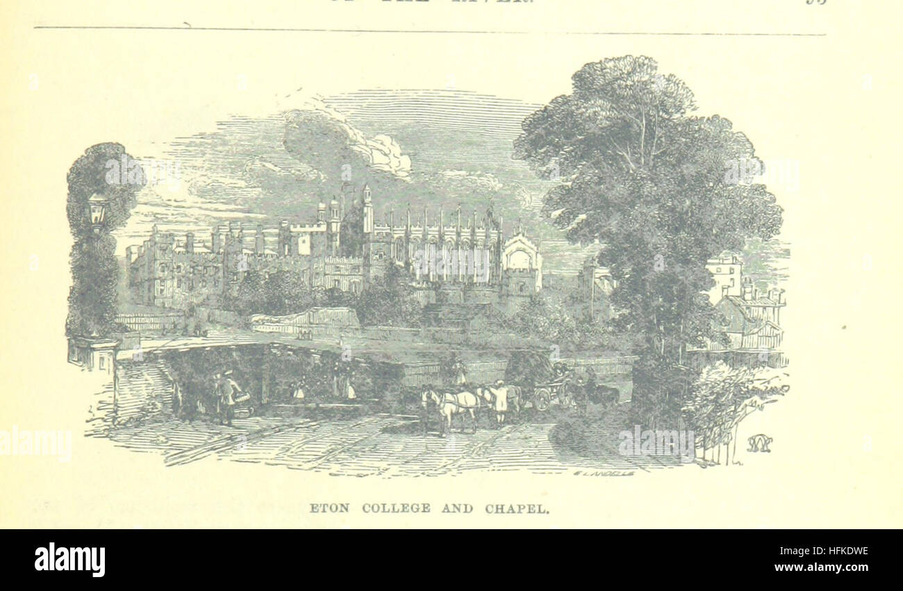 Image taken from page 123 of 'Up the River from Westminster to Windsor and Oxford; a descriptive panorama of - Stock Image
