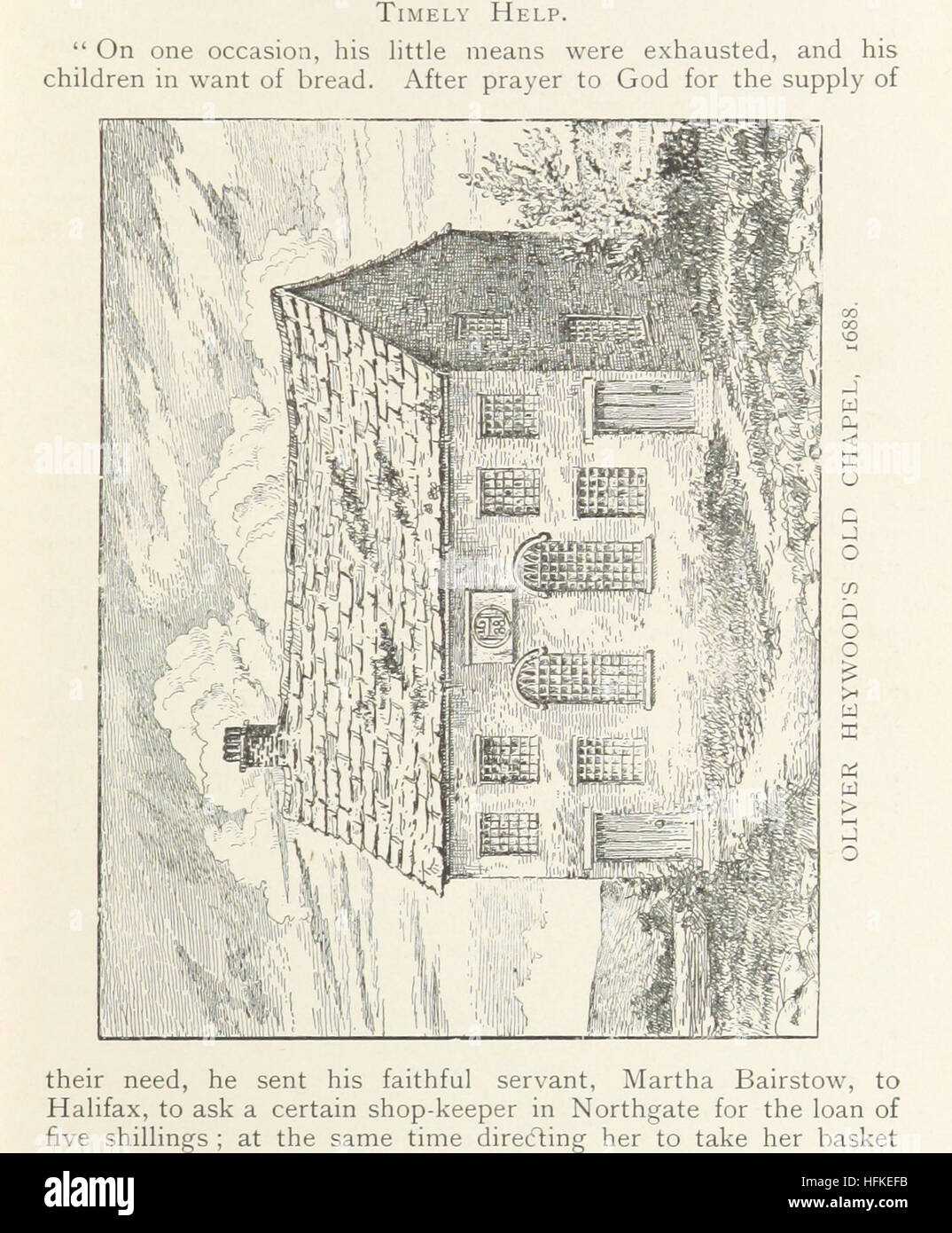 Image taken from page 125 of 'Northowram, W. R. Yorks: its history and antiquities. With a life of Oliver Heywood, Stock Photo
