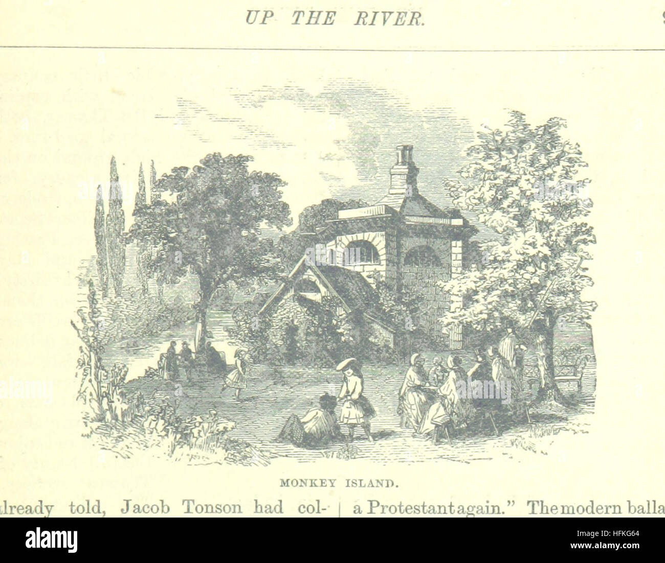 Image taken from page 129 of 'Up the River from Westminster to Windsor and Oxford; a descriptive panorama of - Stock Image