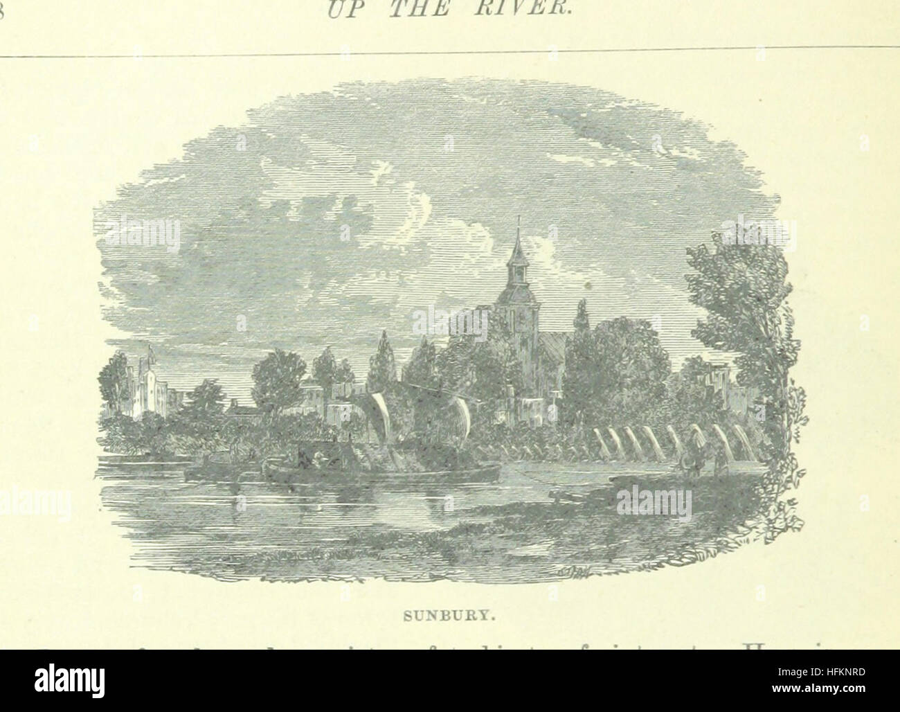 Image taken from page 98 of 'Up the River from Westminster to Windsor and Oxford; a descriptive panorama of - Stock Image