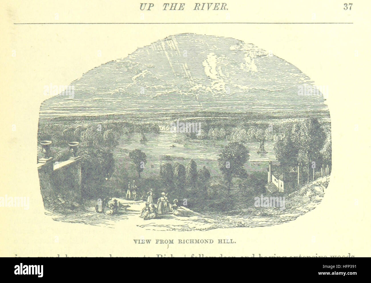 Image taken from page 67 of 'Up the River from Westminster to Windsor and Oxford; a descriptive panorama of - Stock Image