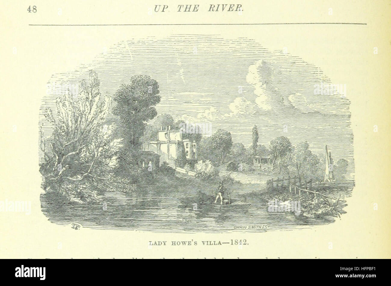 Image taken from page 78 of 'Up the River from Westminster to Windsor and Oxford; a descriptive panorama of - Stock Image