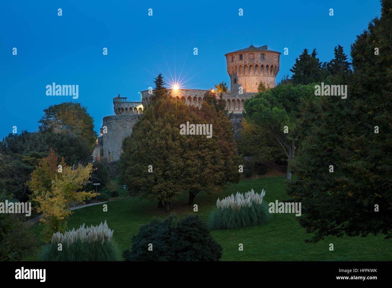 La Fortezza di Volterra in Parco Archeologico 'Enrico Fiumi', Volterra, Tuscany, Italy - Stock Image