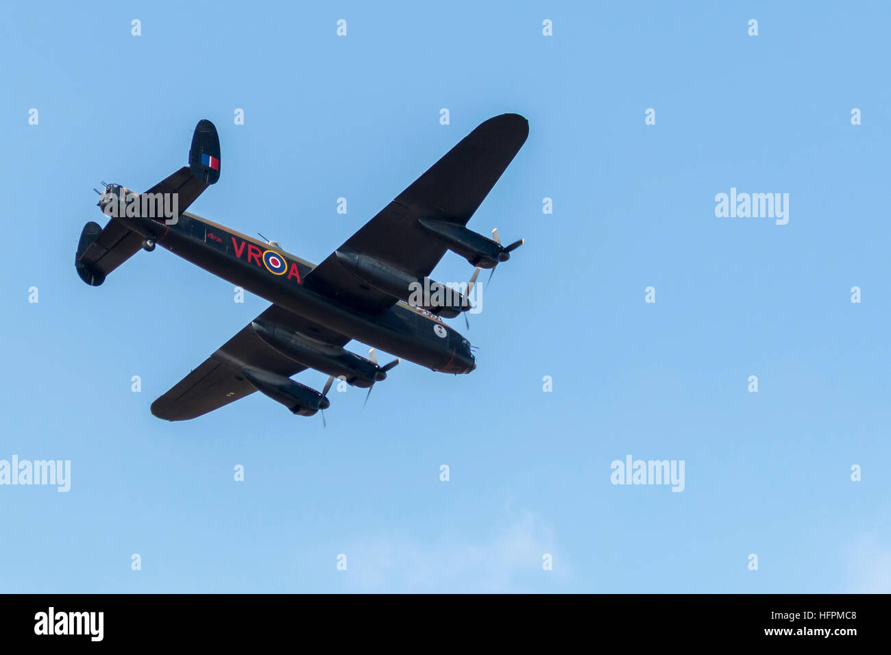 Canadian Warplane Heritage Museum vintage Avro Lancaster B.10 Bomber CG-VRA - Stock Image