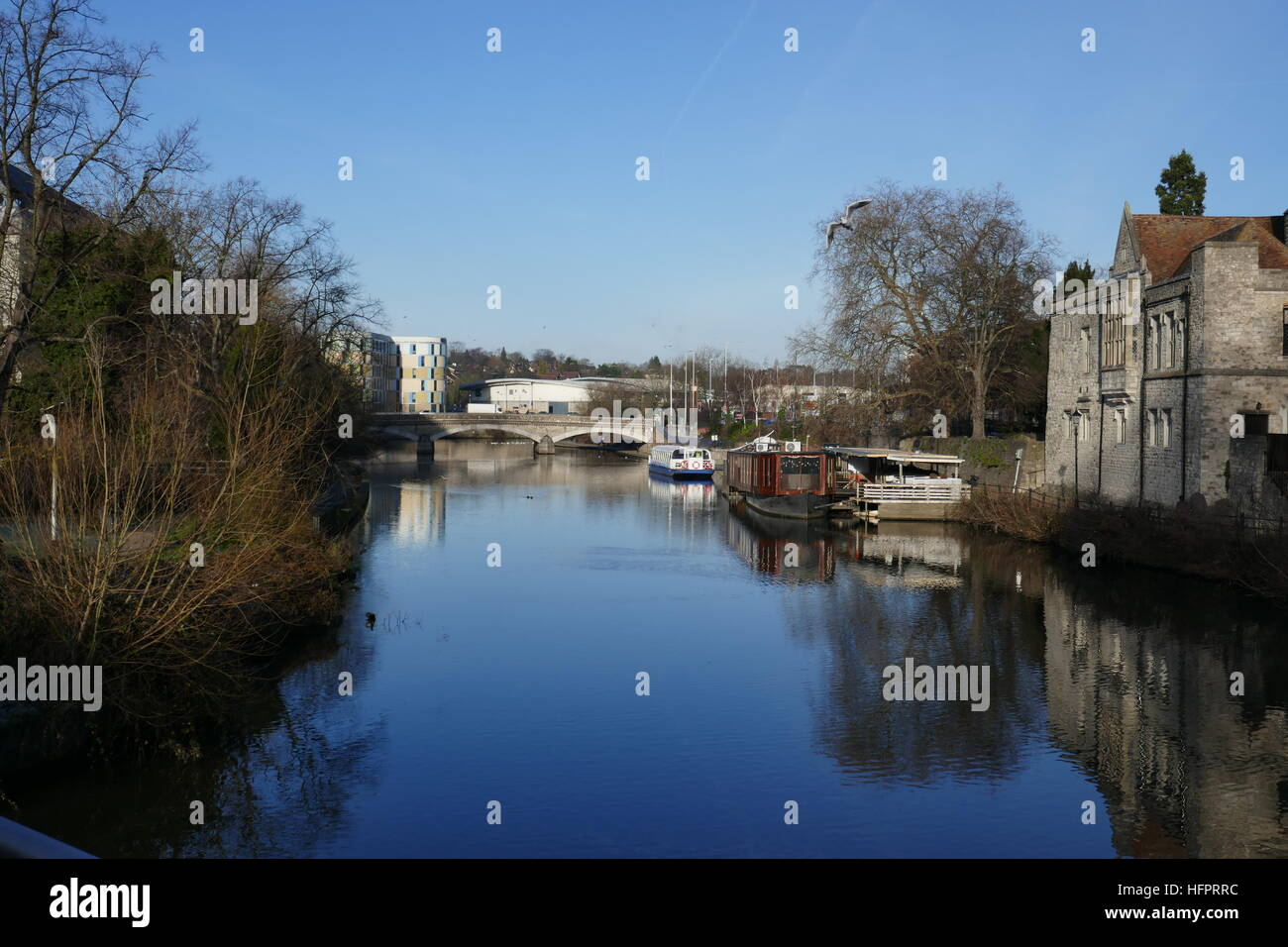 River Medway, Maidstone, Kent - Stock Image