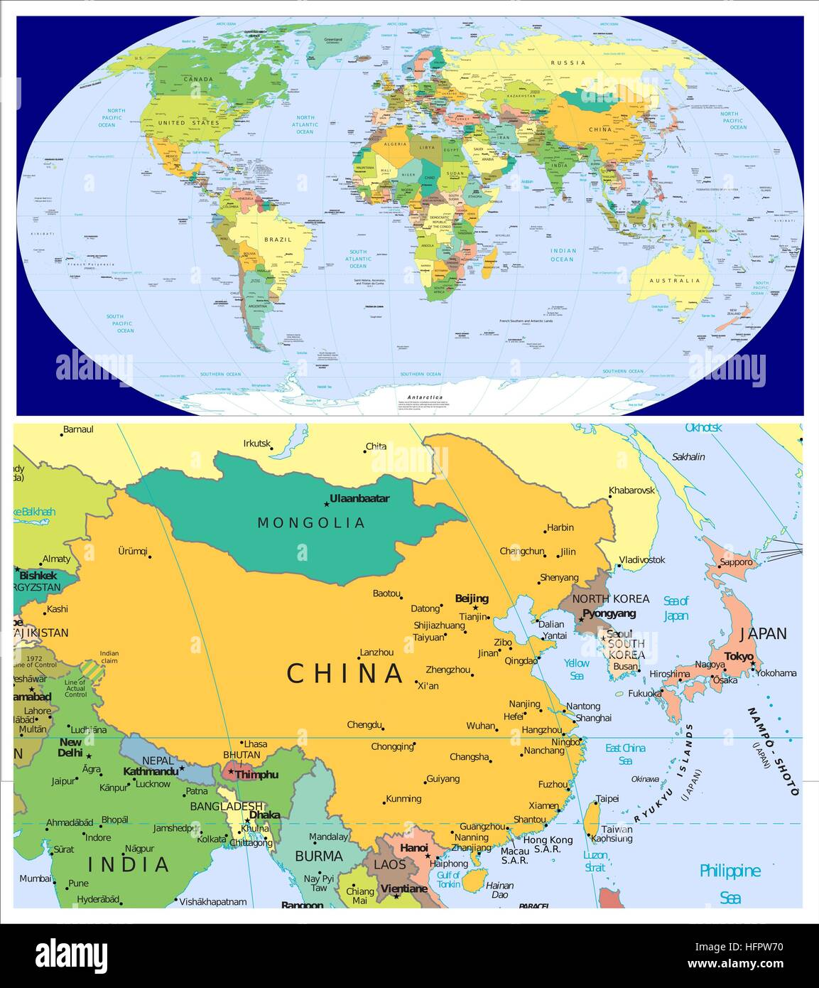 China japan n korea s korea mongolia world stock photo 130195156 china japan n korea s korea mongolia world gumiabroncs Images