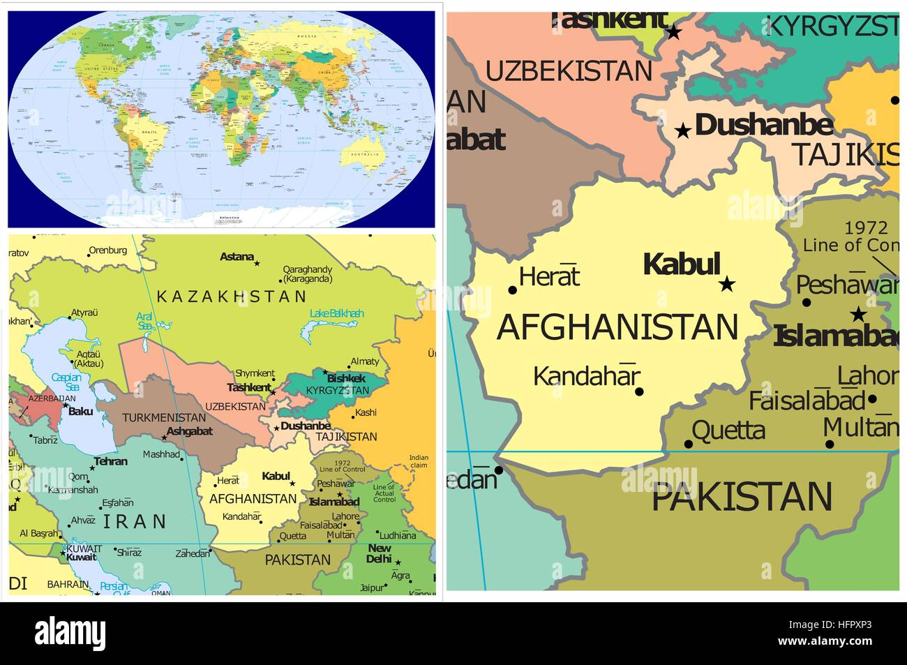 Afghanistan & Asia - Stock Image