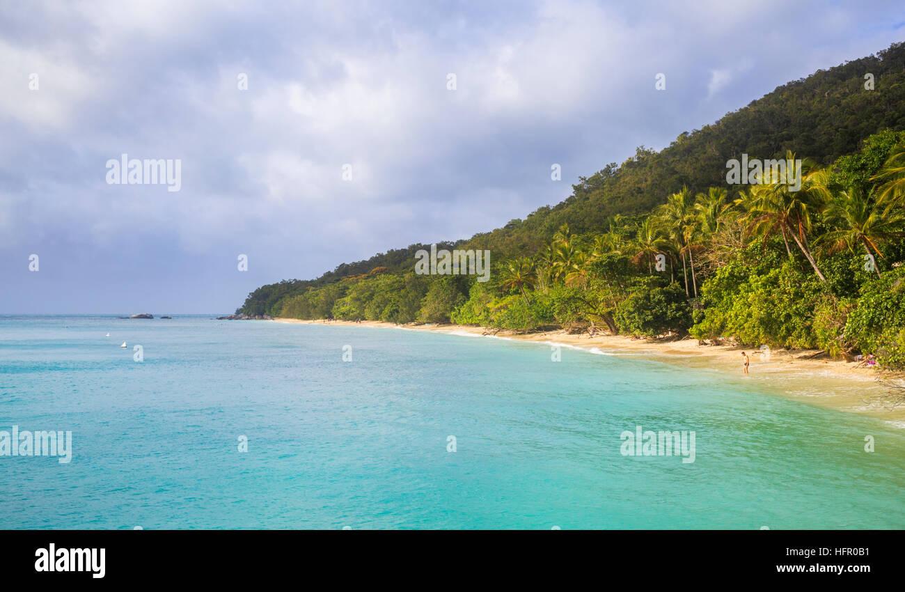 Fitzroy Island Beach, Queensland. - Stock Image