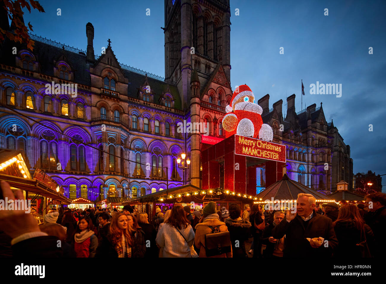 Manchester German European Christmas Markets   Christmas winter festive festival Christian holidays happy occasion - Stock Image