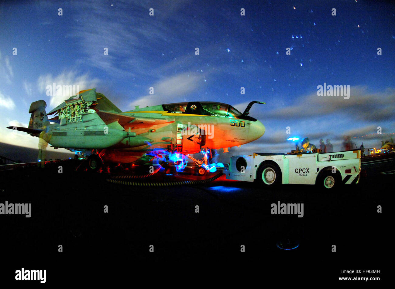 060316-N-6213R-001 Pacific Ocean (March 16, 2006) - Pilots sit in an EA-6B Prowler assigned the 'Vikings' - Stock Image
