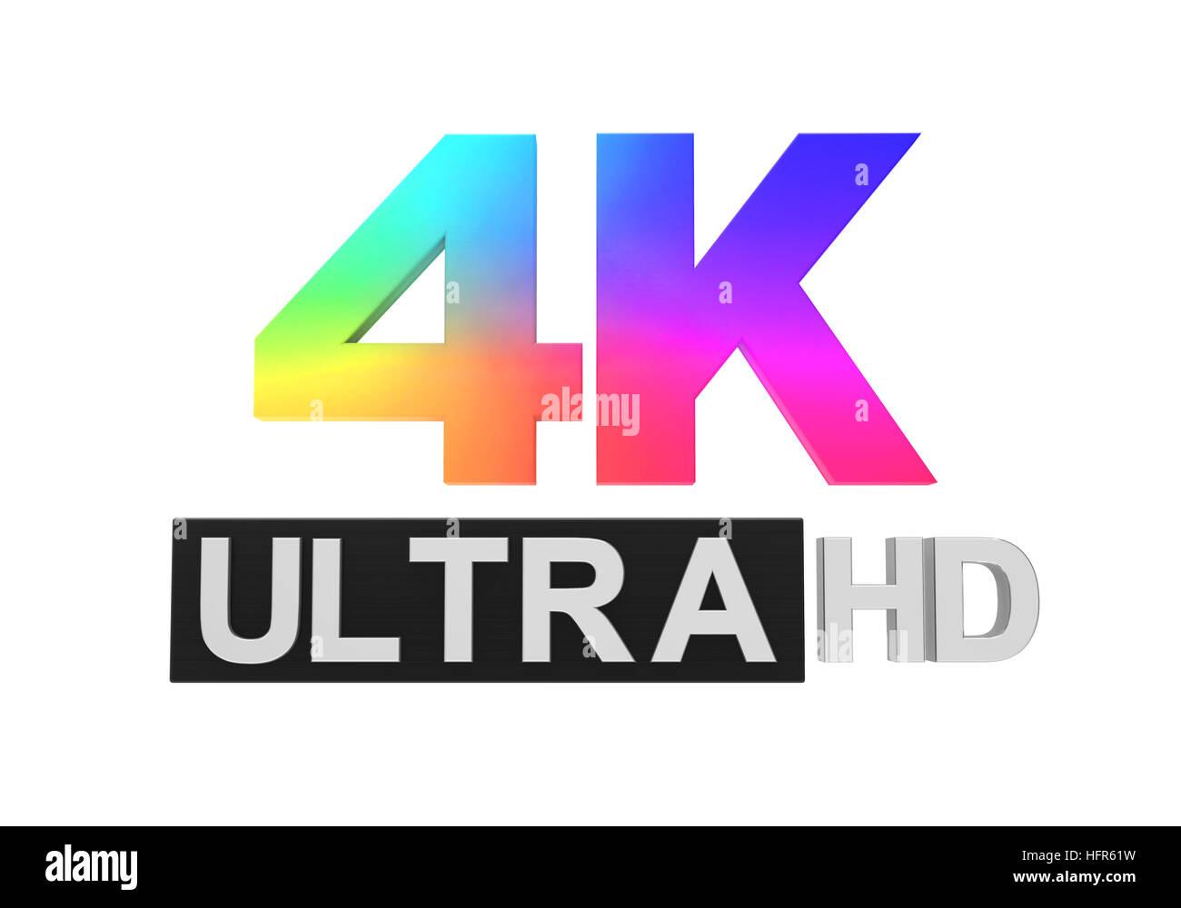 Ultra HD 4K Icon - Stock Image