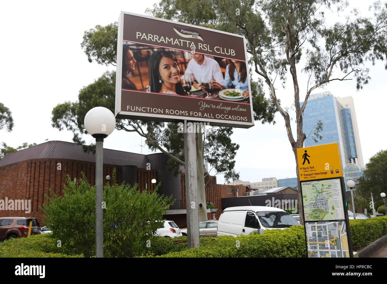 Parramatta RSL Club in Western Sydney, Australia. - Stock Image