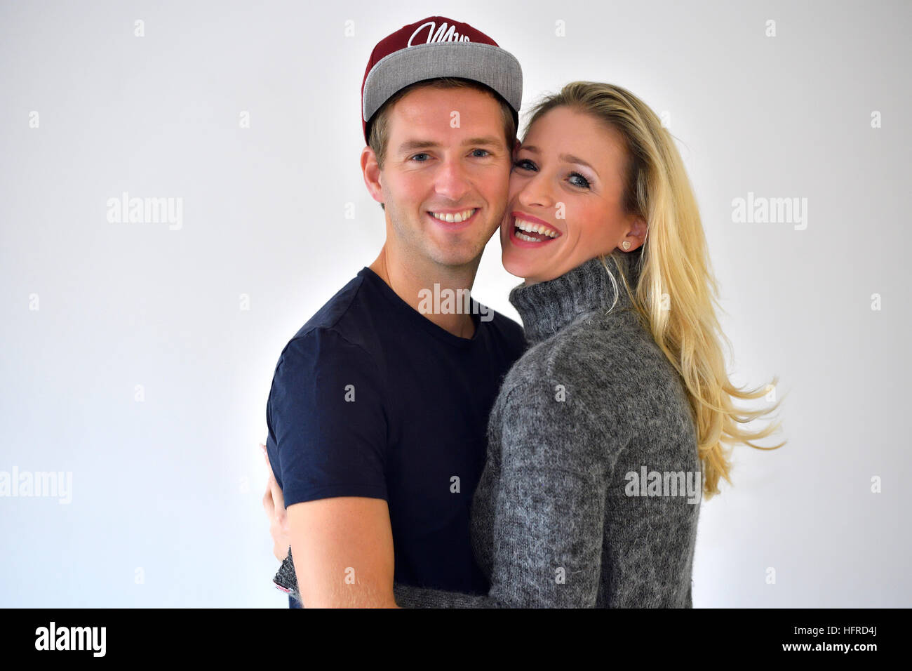 Young couple, lovers hugging - Stock Image