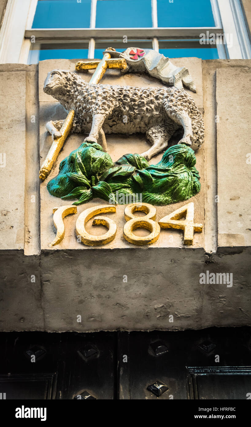 The Holy Lamb and Flag, Middle Temple, Inns of Court, London, UK, - Stock Image