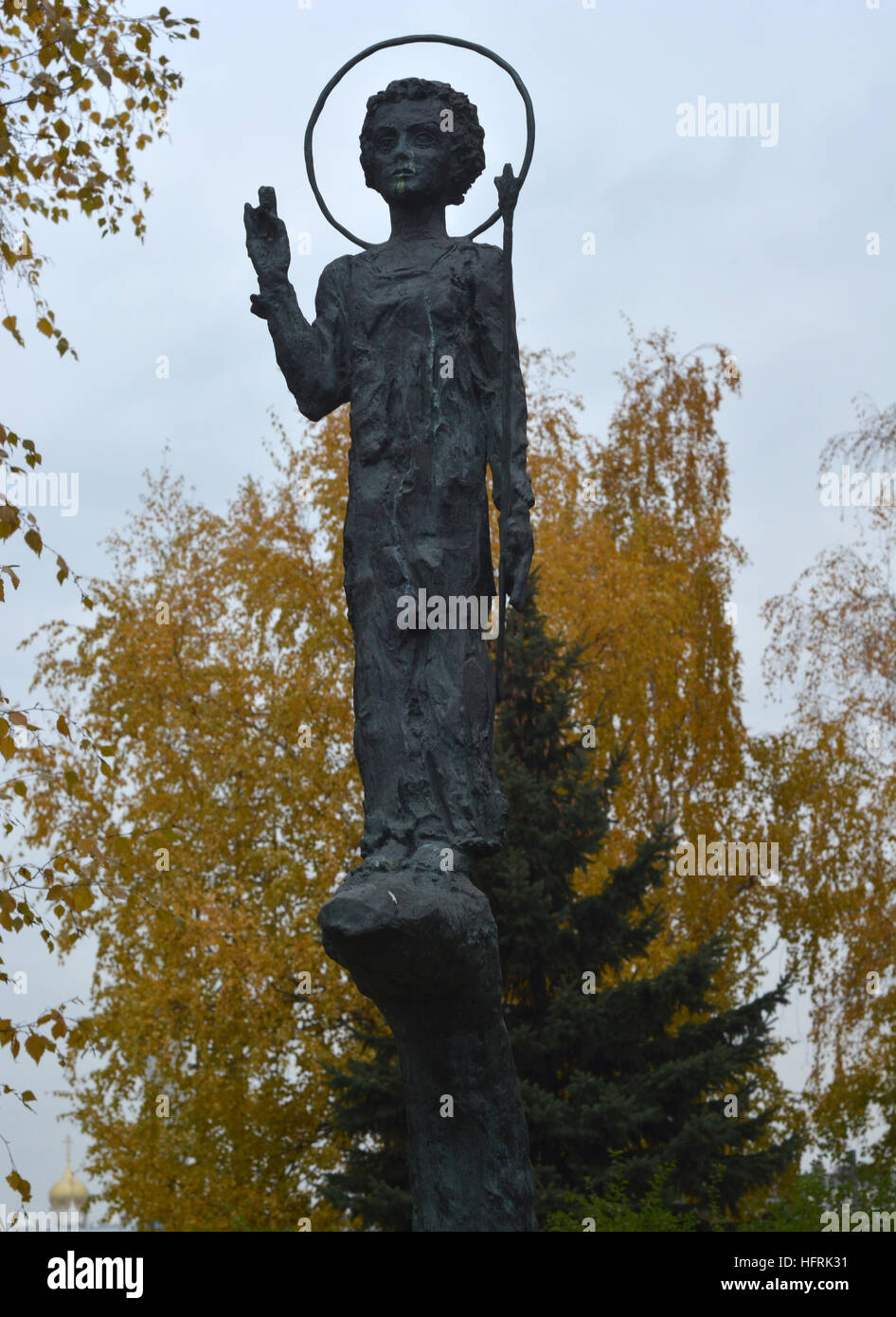 Statues in the Garden of Fallen Heroes, Moscow, Russia - Stock Image