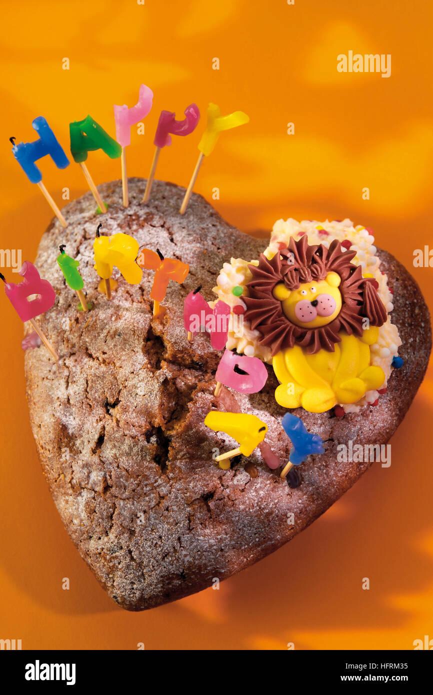 Heart shaped sponge cake stock photos heart shaped sponge cake heart shaped birthday cake stock image izmirmasajfo