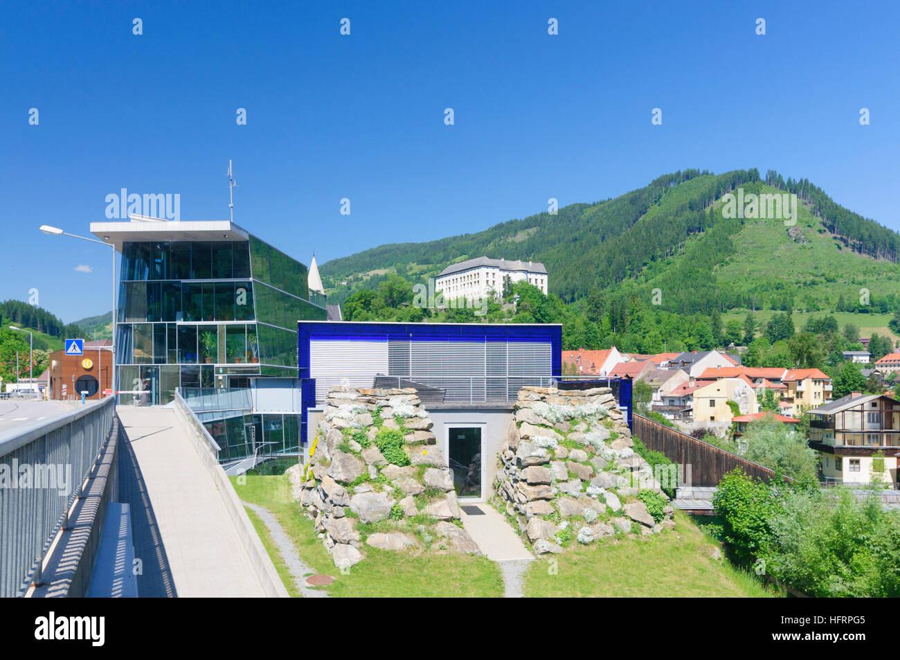 Murau: Building of the district management office, castle, Murtal, Steiermark, Styria, Austria - Stock Image
