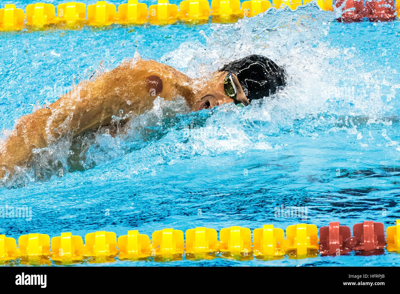 Rio de Janeiro, Brazil. 9 August 2016.   Michael Phelps Team USA gold medal winners competing in the final of the - Stock Image