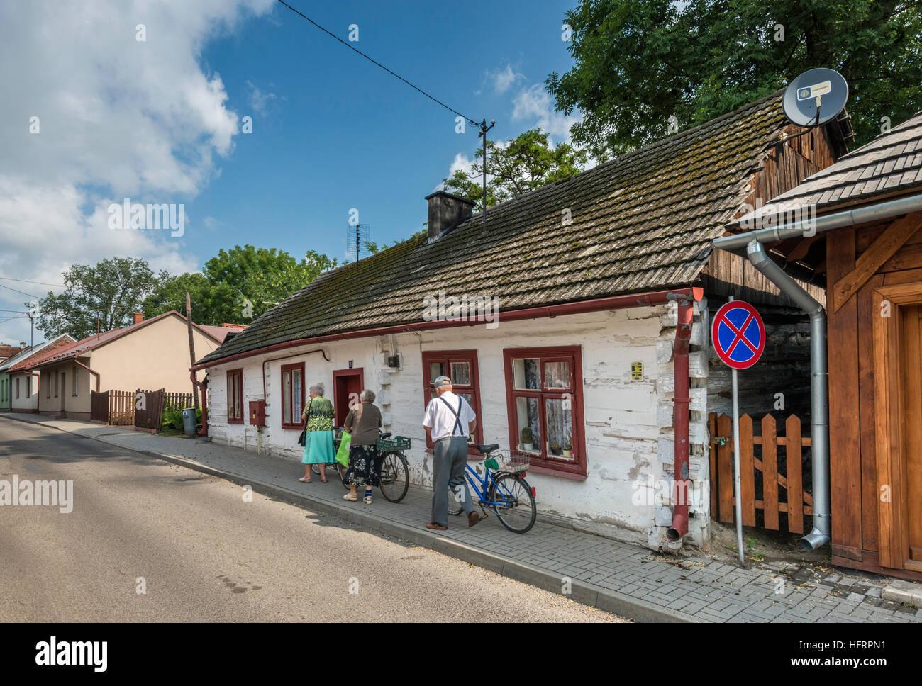 Weavers houses, 18th century, in Przeworsk, Malopolska, Poland - Stock Image