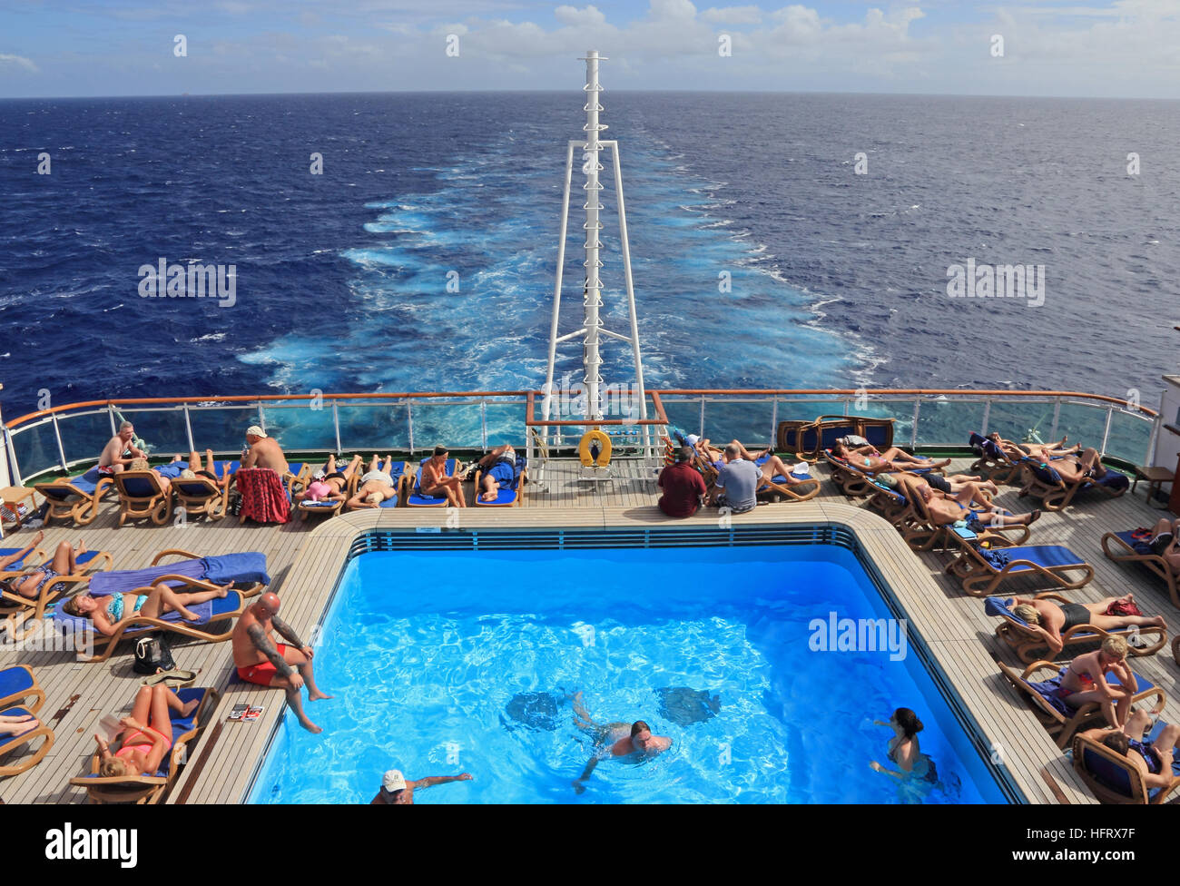 Swimming pool at stern of p 0 cruise ship azura stock photo 130217907 alamy for River cruise ships with swimming pool