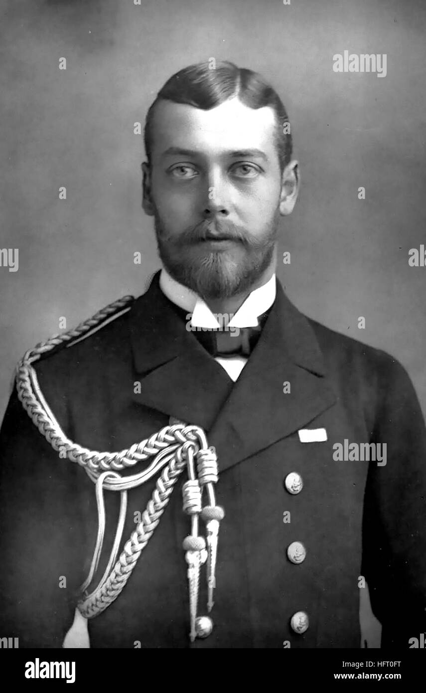 KING GEORGE V (1865-1936) photographed by William Downey in 1900 Stock Photo