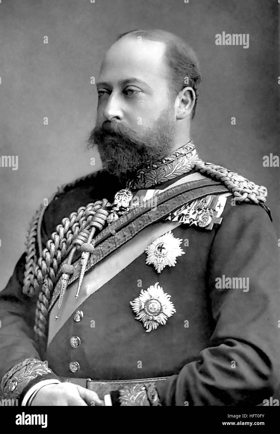 EDWARD VII (1841-1910) as Prince of Wales  about 1890 - Stock Image