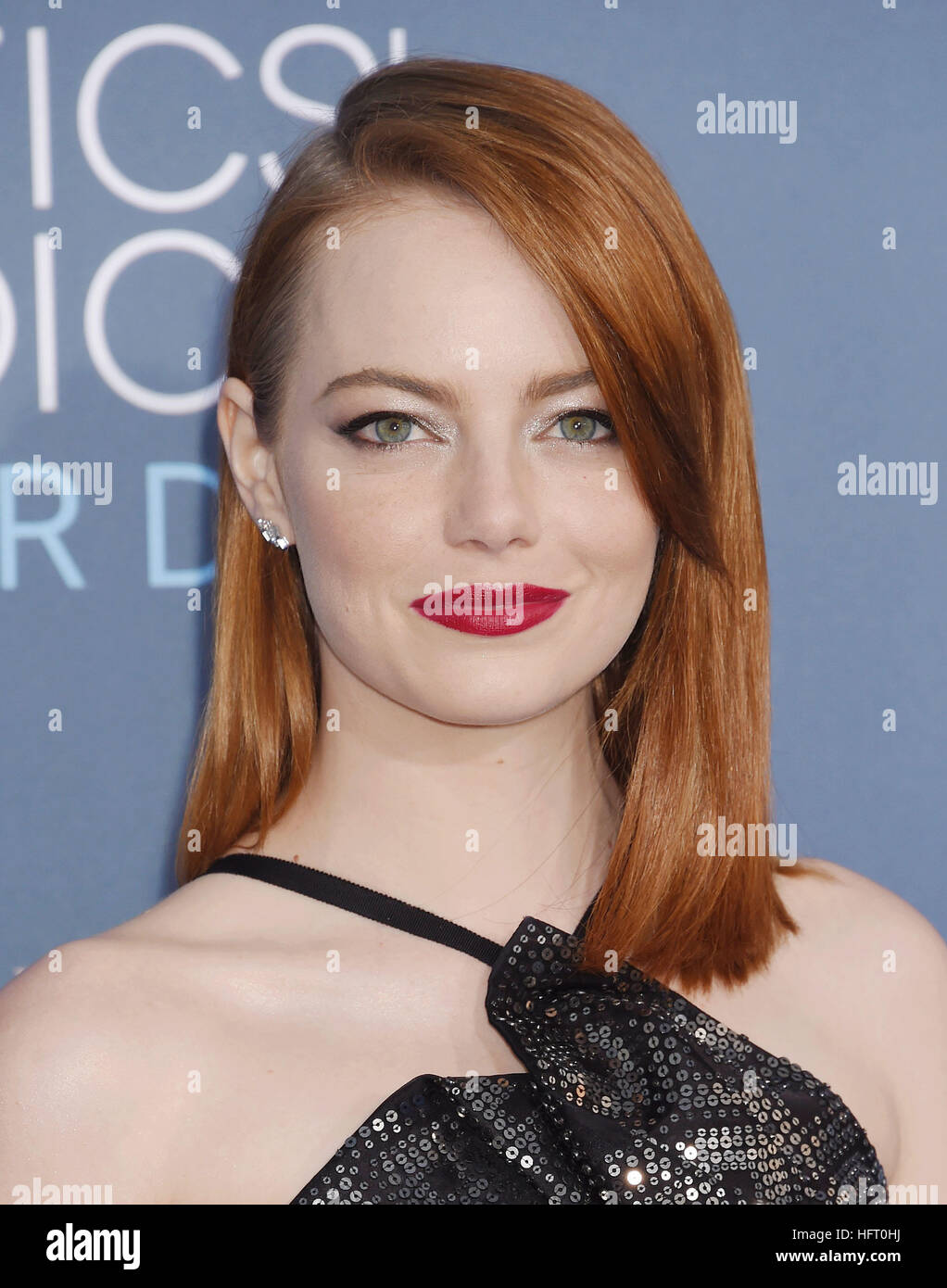EMMA STONE  US film actress in December 2016. Photo Jeffrey Mayer - Stock Image