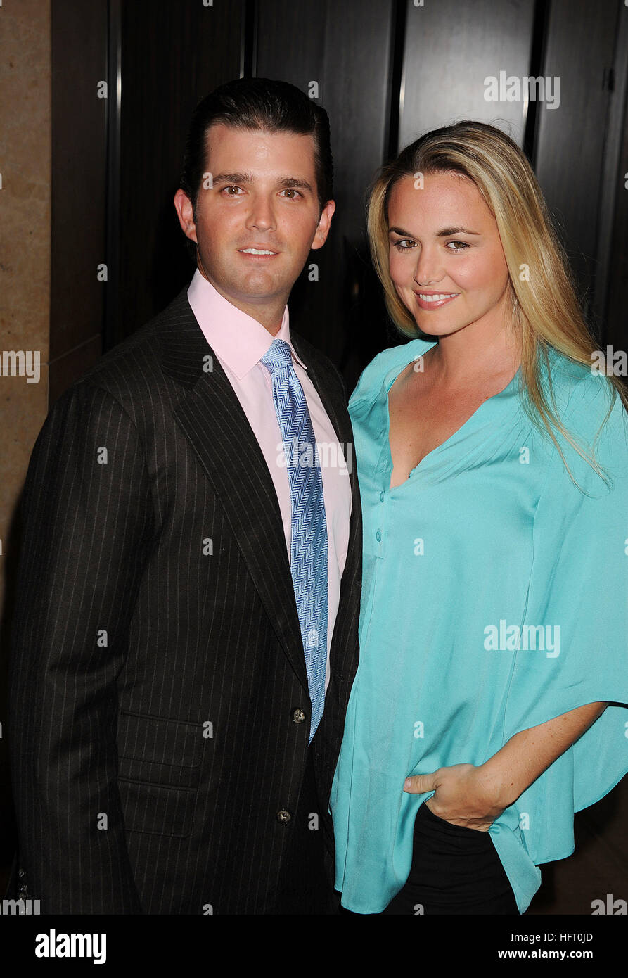 DONALD TRUMP JNR with his wife Vanessa in 2010. Photo Jeffrey Mayer - Stock Image