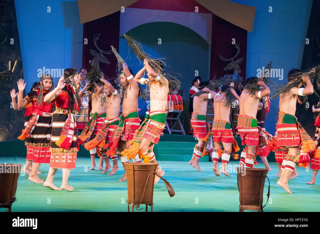 Manipur tribal dancers perform at the Sangai Festival, Imphal, India - Stock Image