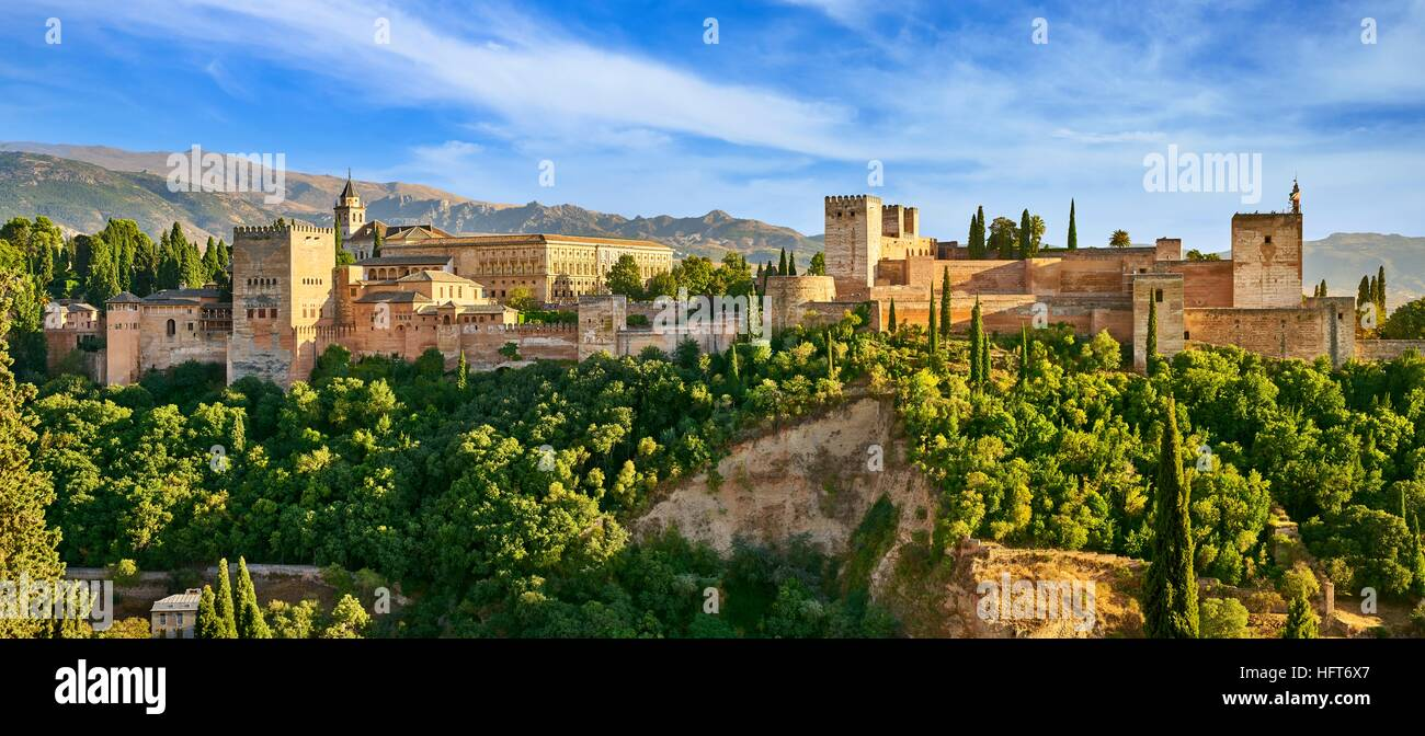 Alhambra Palace, Granada, Andalucia, Spain Stock Photo