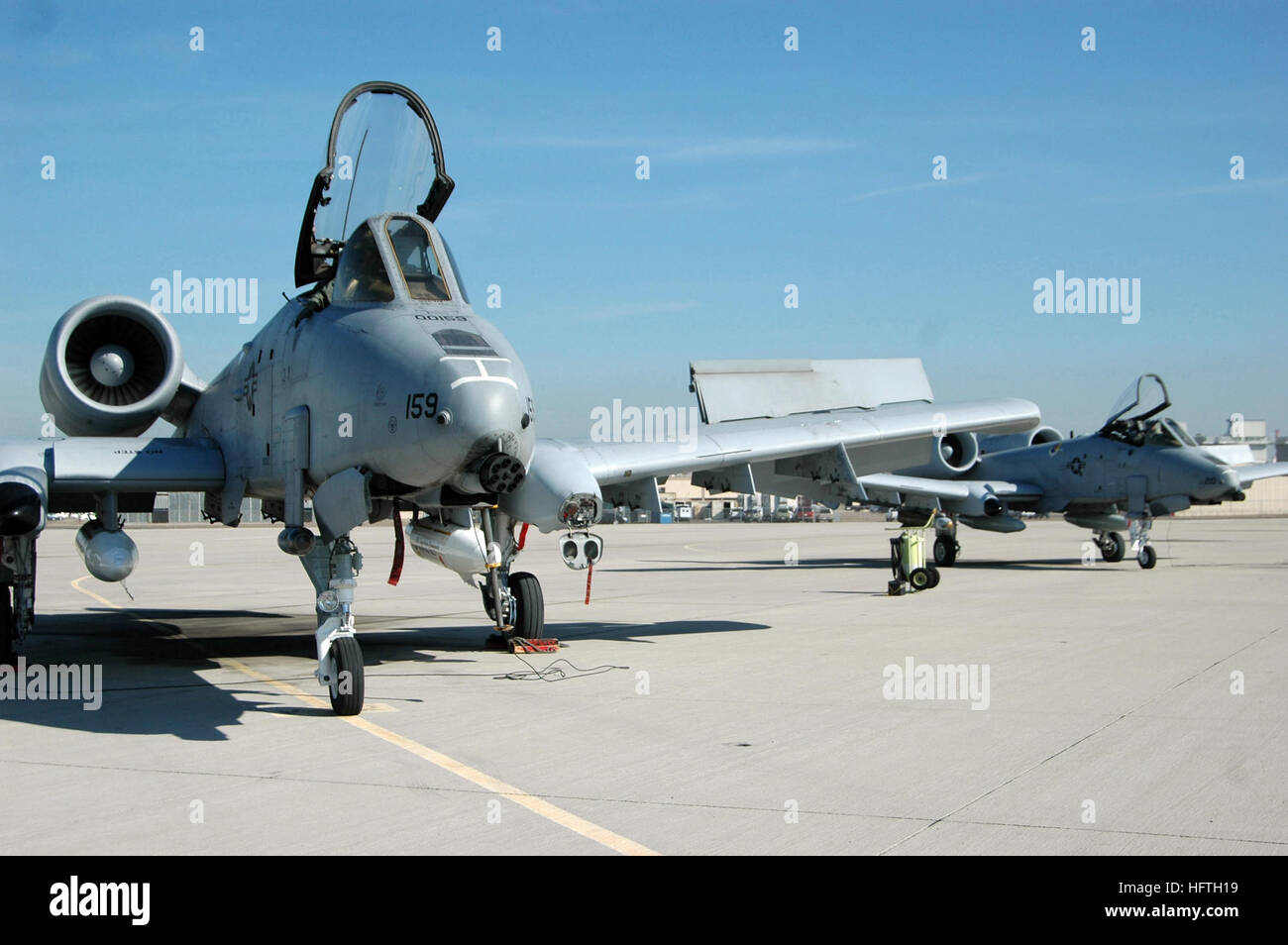 070308-N-4047W-097 SAN DIEGO (March 8, 2007) - Air Force A-10s assigned to Davis Monthan Air Force Base in Tucson, - Stock Image
