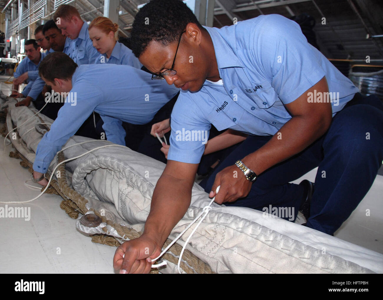 070524-N-2893B-001 CHARLESTOWN, Mass. (May 24, 2007) - In the Navy YardÕs USS Constitution Repair Facility, - Stock Image