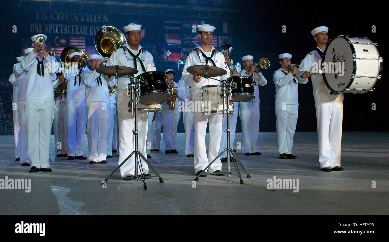 070905-N-5174T-007 KUALA LUMPUR, Malaysia (Sept. 5, 2007) - Sailors attached to the Pacific Fleet Band perform during - Stock Image